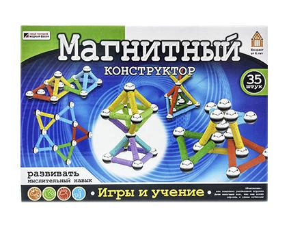 Магнитный конструктор Mag-Building 35 деталей - купить недорого в СПб в интернет-магазине