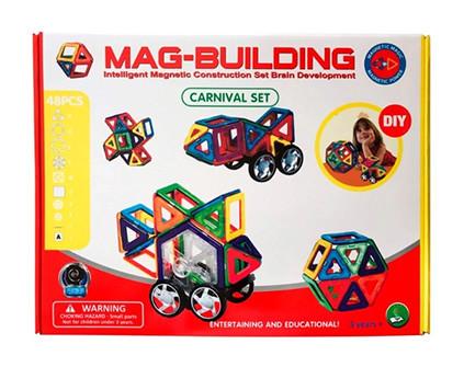 Магнитный конструктор Mag-Building 48 деталей - купить недорого в СПб в интернет-магазине