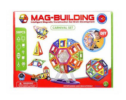 Магнитный конструктор Mag-Building 58 деталей набор - купить недорого в СПб в интернет-магазине