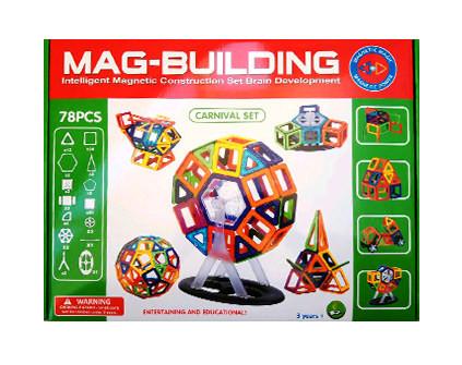 Магнитный конструктор Mag-Building 78 деталей - купить недорого в СПб в интернет-магазине