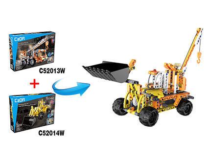 Конструктор экскаватор c пружинным механизмом Double E Cada Technic C52014W - купить недорого в Санкт-Петербурге в интернет-магазине
